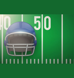 Posters of american football field and helmet vector