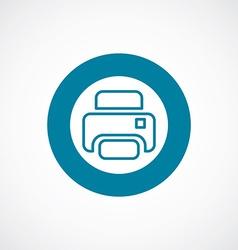 printer icon bold blue circle border vector image