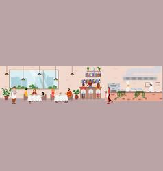 Restaurant catering food service flat vector