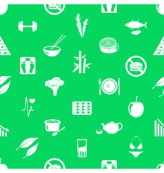 Set of diet and healthy life style theme icons vector