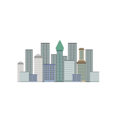 skyscrapers new york city manhattan downtown vector image