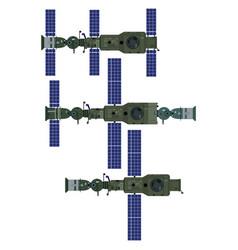 Soviet orbital station vector