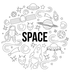 Space line icon vector image