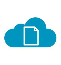 Thin line cloud file icon vector