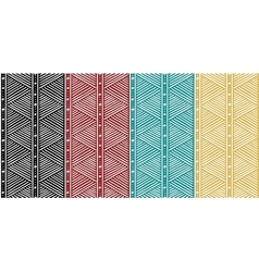 Tribal Seamless Ethnic African Pattern with Lines vector image vector image
