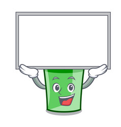 up board green smoothie character cartoon vector image