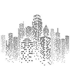 Urban cityscape silhouette vector
