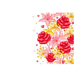 valentine day greeting card vector image