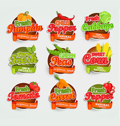 Vegetables logo vector