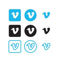 vimeo social media icons vector image