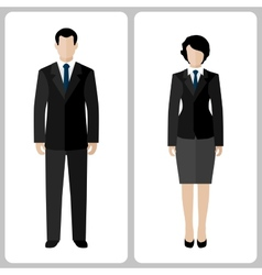 Woman and man vector image