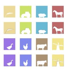 farming logos and symbols vector image