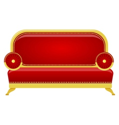 red sofa vector image