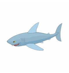 Shark icon in cartoon style vector image