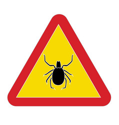 sign warning tick disease vector image