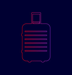 baggage sign line icon with vector image