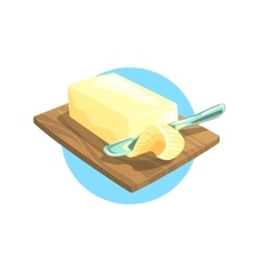 Butter Farm Product Colorful Sticker vector image