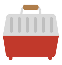 pet carrier box icon vector image