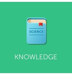 Scientific knowledge Science book design vector image