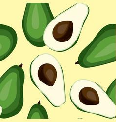 seamless avocado pattern tile green vegetable vector image vector image