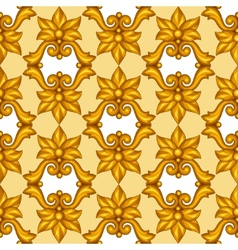 Seamless pattern with baroque ornamental floral vector image