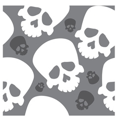 seamless wallpaper with skulls vector image vector image