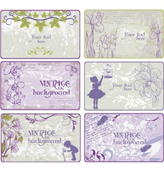 Set of vintage backgrounds vector image