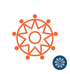 sun tribal geometric logo vector image vector image