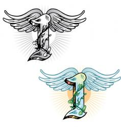 tattoo letter I vector image