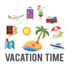 vacation time concept vector image vector image
