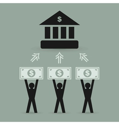 Bank2 vector image vector image