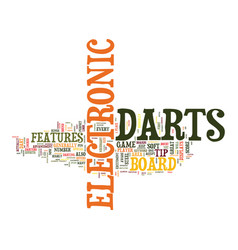 electronic darts text background word cloud vector image vector image