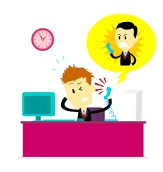 Getting Yelled At By Boss vector image vector image