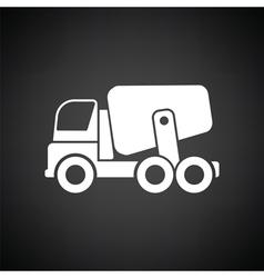 Icon of Concrete mixer truck vector image vector image