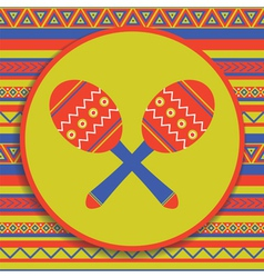 maracas on patterned background vector image