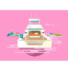 Yacht flat design vector image vector image