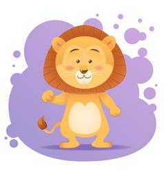 Cute cartoon lion toy card vector image vector image