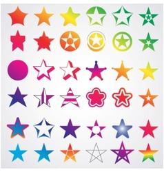 different collection of stars vector image