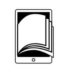 electronic book in tablet icon vector image
