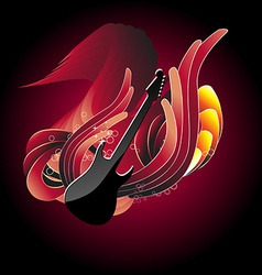 Guitar in abstract background vector image vector image
