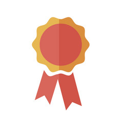 rosette award ribbon banner decoration icon vector image