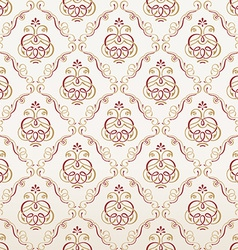 Seamless florals wallpaper Vintage background vector image