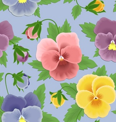 seamless pansies pattern vector image