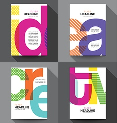 Set of Creative Brochure Flyer design template vector image