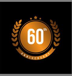 60th anniversary template design vector