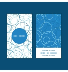 Abstract blue circles vertical round frame pattern vector