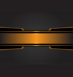 Abstract gold black metal banner dark gray hexagon vector