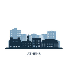 athens georgia skyline monochrome silhouette vector image