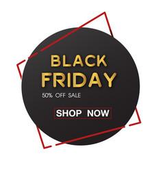 Banner black friday sale 50 sale circle ima vector