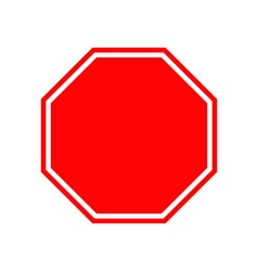 Blank stop traffic warning road sign Prohibition vector image